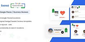 Everest Google Places Reviews Lite - Free WordPress Plugin To Showcase Google Places/Business Reviews
