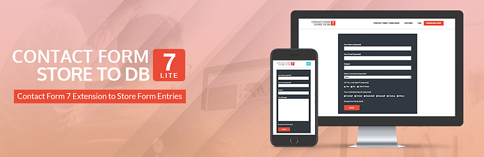 Contact Form 7 Store to DB Lite – Free WordPress Contact Form 7 Plugin Extension/Addon