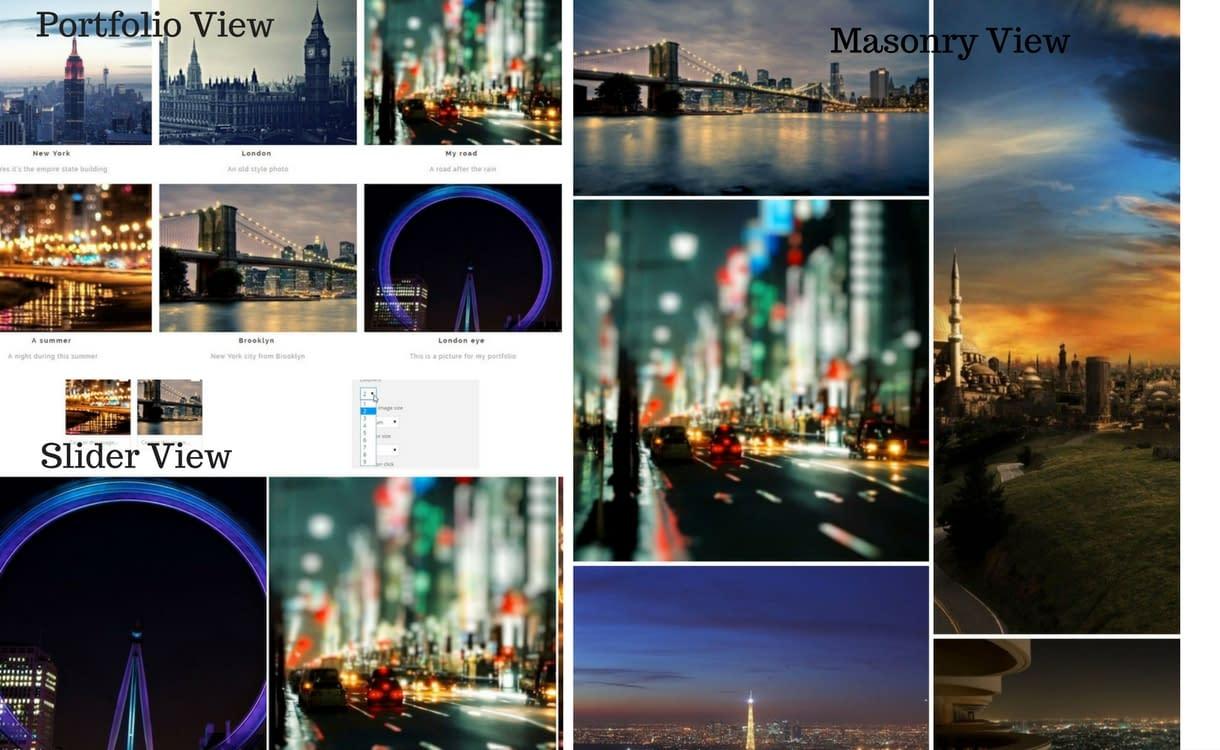 WP Media Folder feature - Gallery Views