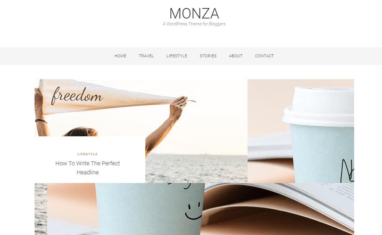 Monza-Best Free WordPress Themes June 2018