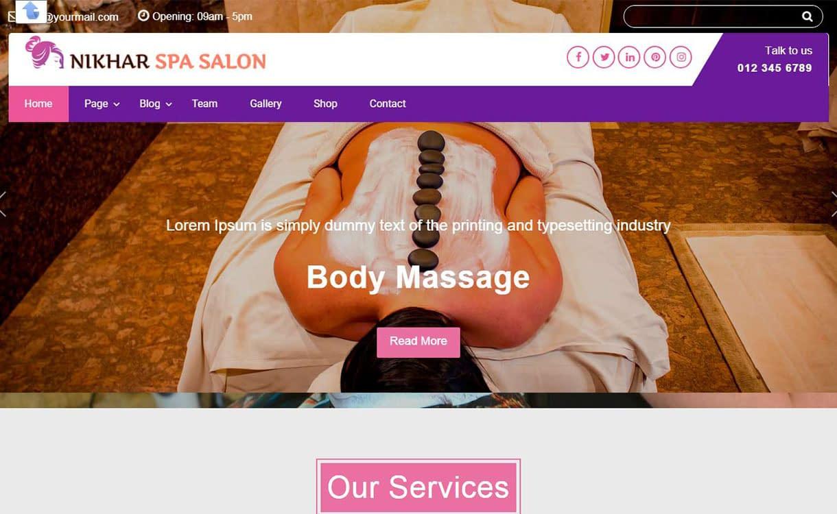 nikhar-spa-salon-best-free-spa-beauty-wordpress-theme