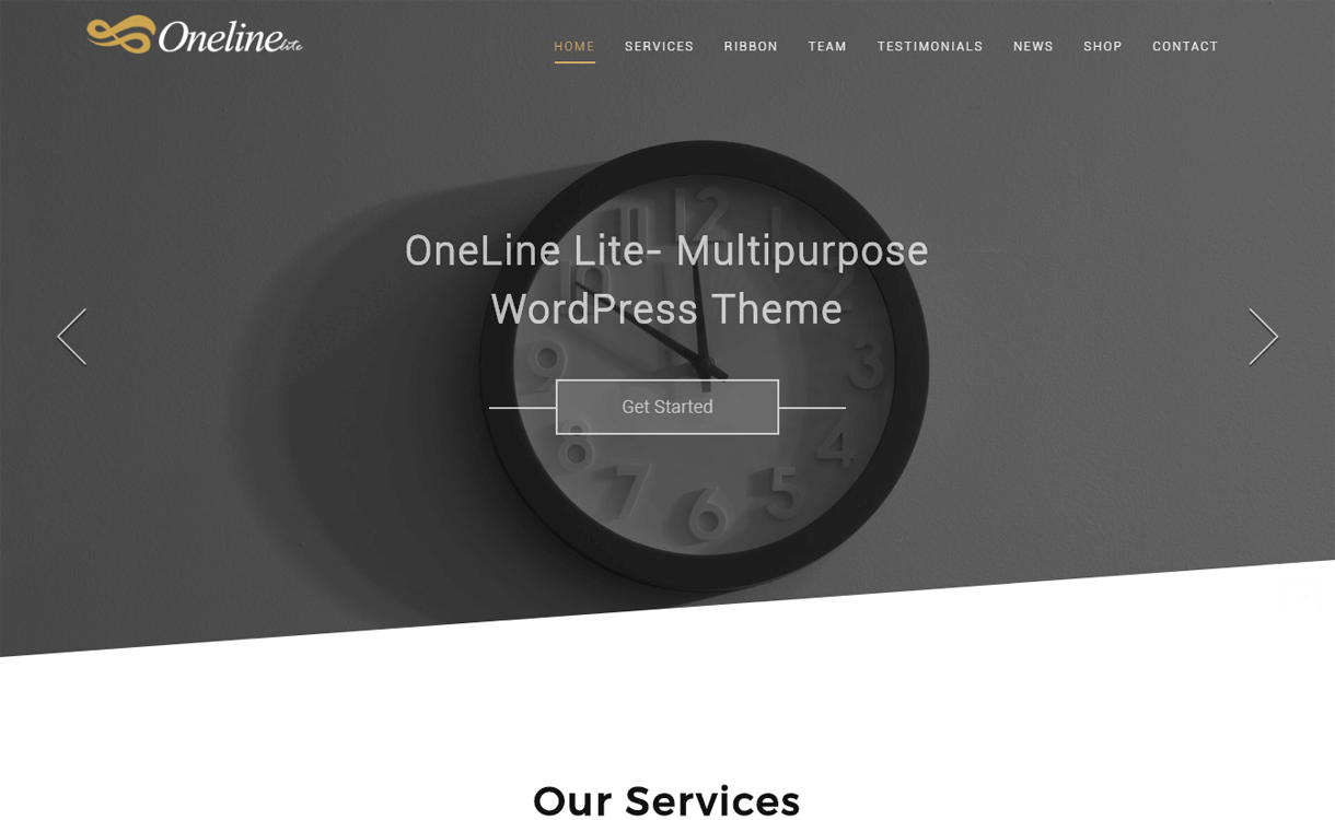 Oneline Lite-Best Free One Page WordPress Themes