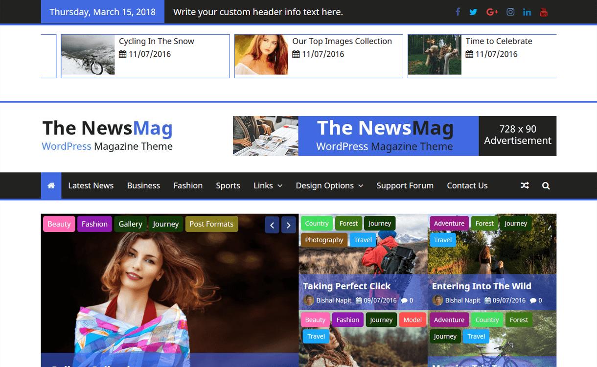The NewsMag-Best Free Magazine WordPress Themes