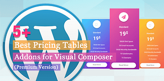 Best Pricing Tables Addons for Visual Composer
