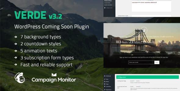 Best Coming Soon & Maintenance Mode Plugin for WordPress: Verde
