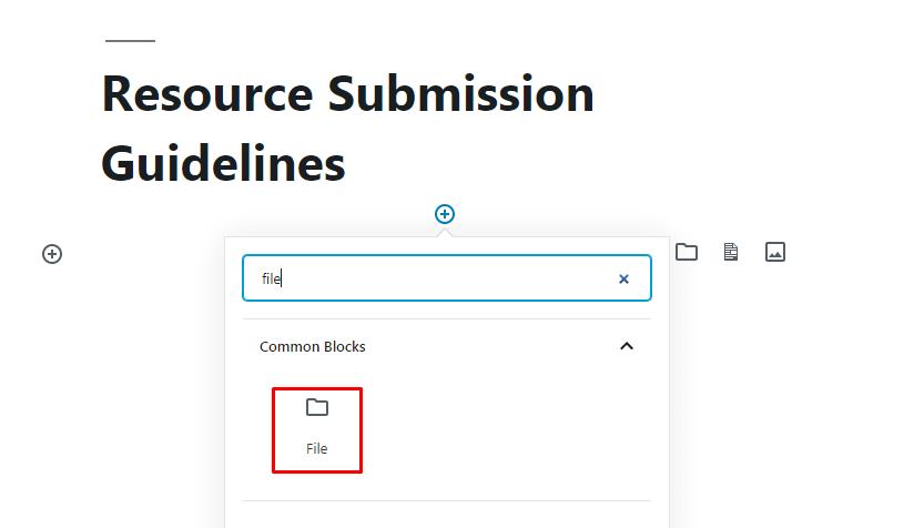 Add File Block