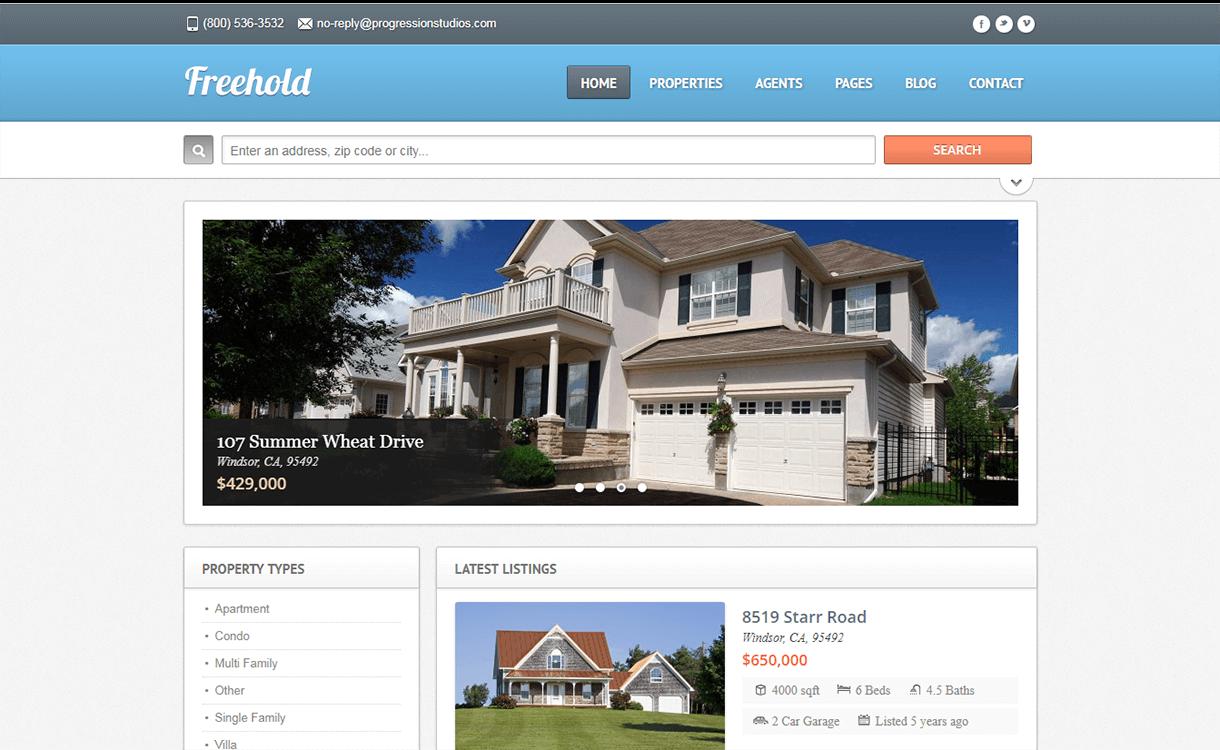 Freehold-Best Free Premium Real Estate WordPress Themes