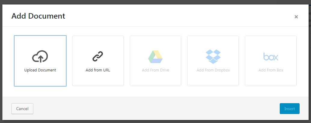 Add Document Popup