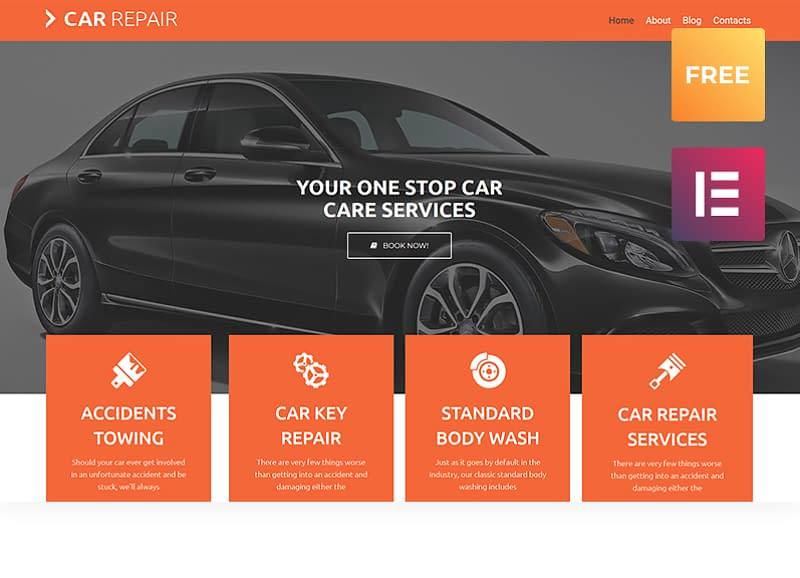 Car Repair - Elementor WordPress Theme