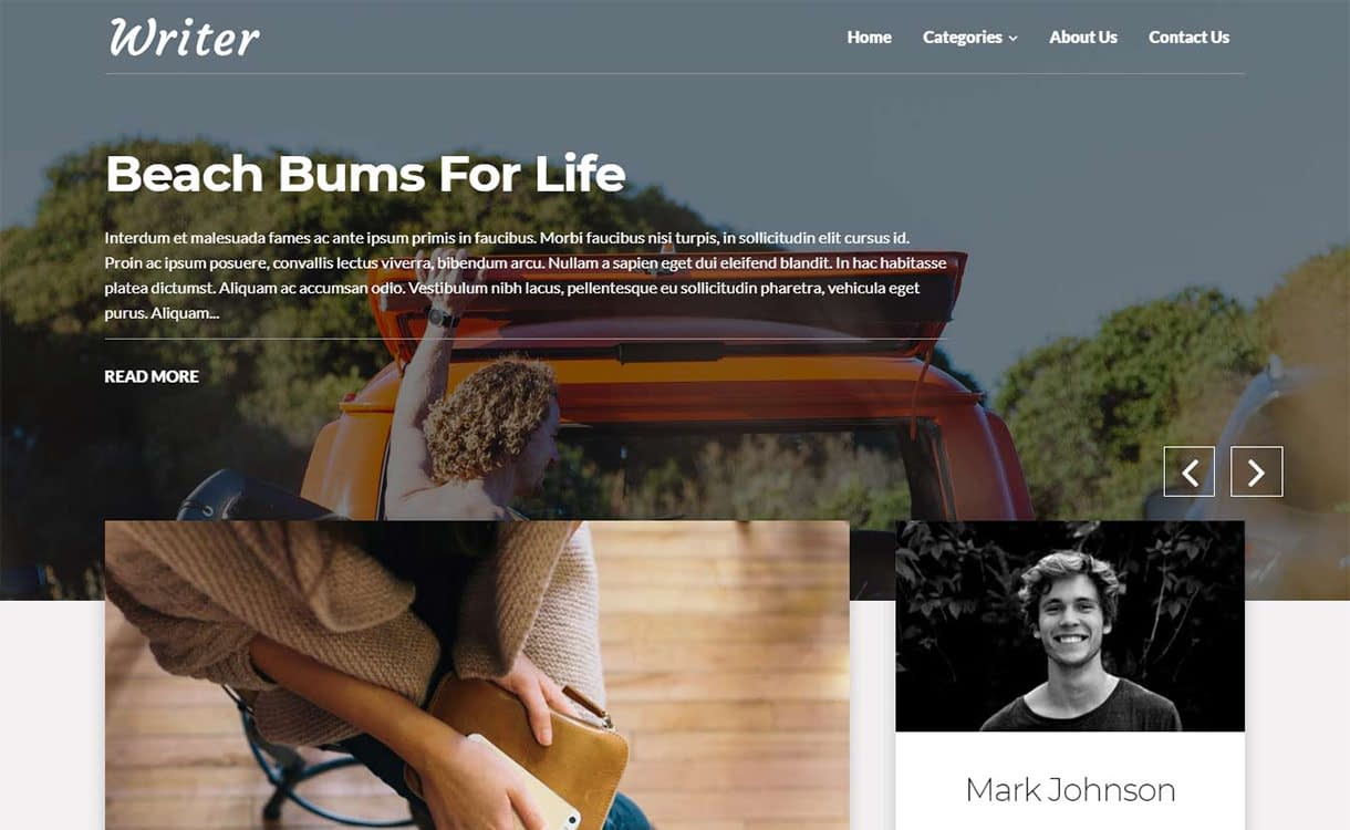 writer-blog-best-free-minimal-wordpress-theme