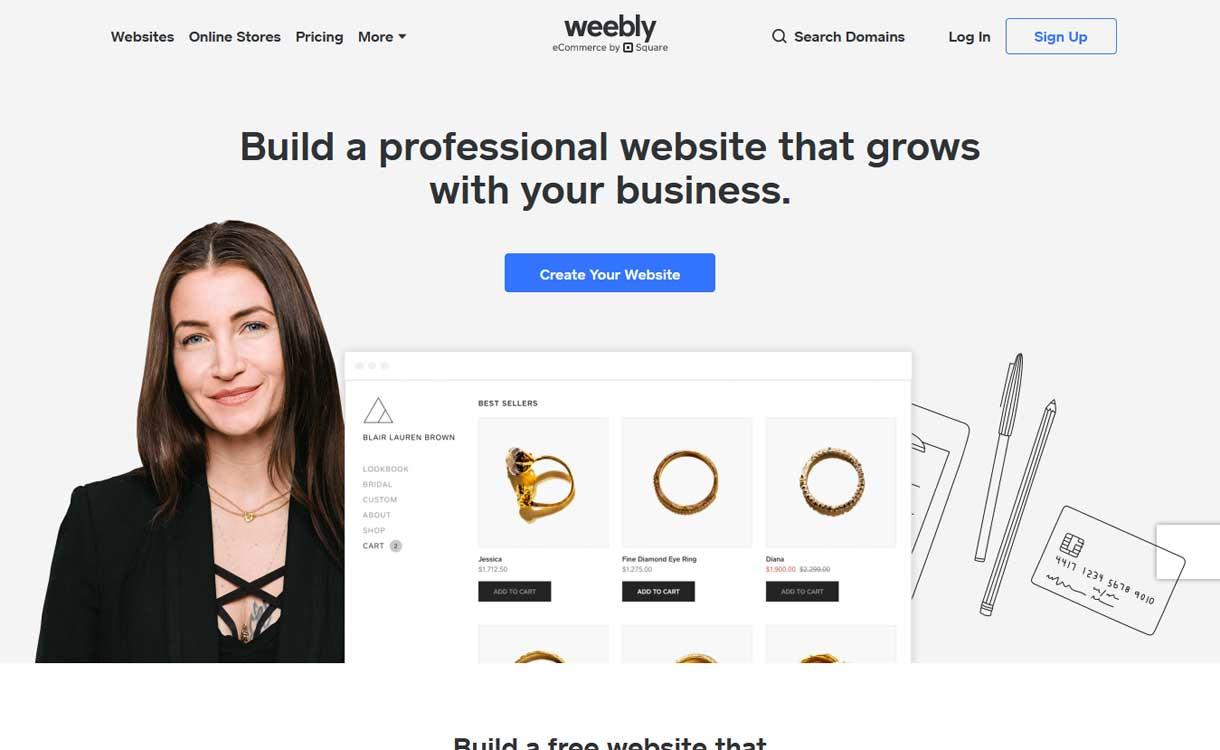 Weebly - Best Blogging Platforms