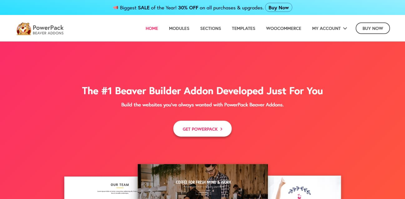 PowerPack Add-ons for Beaver Builder - Black Friday and Cyber Monday WordPress Deal 2018