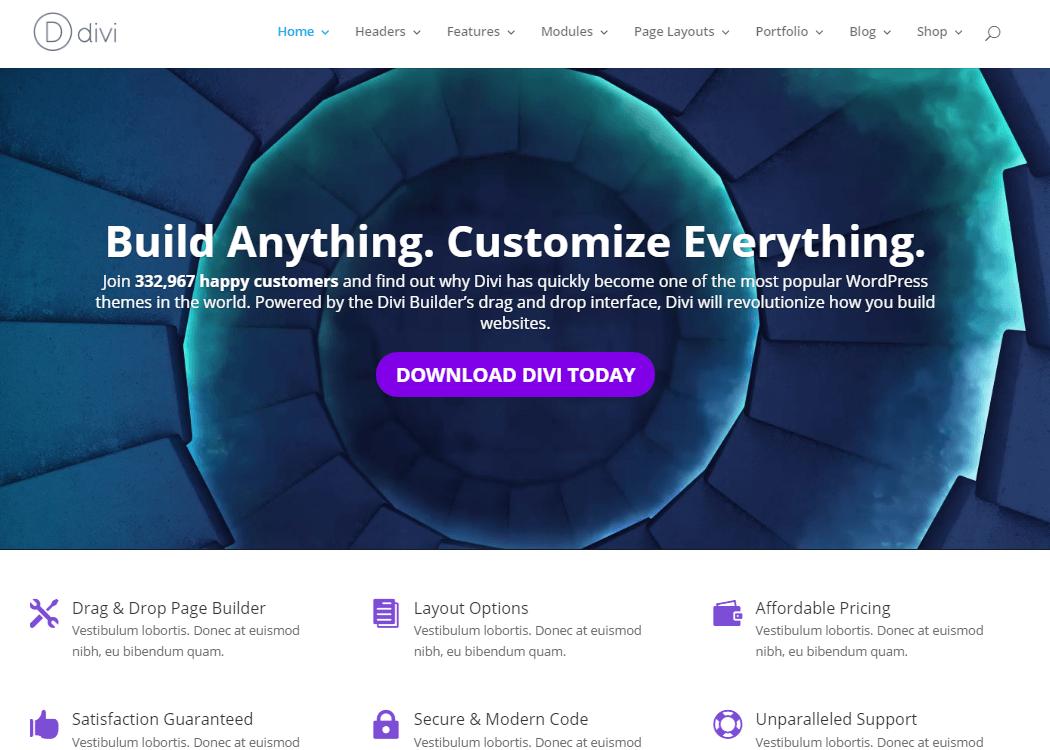 Divi - WordPress Multipurpose Theme
