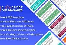 Everest FAQ Manager - Responsive WordPress FAQ Plugin