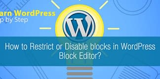 How to Restrict or Disable blocks in WordPress Block Editor