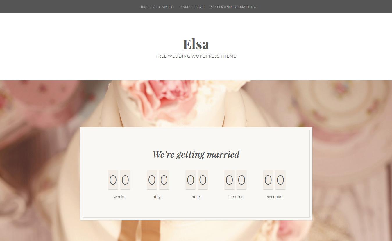 Elsa - Free Feminine WordPress Theme