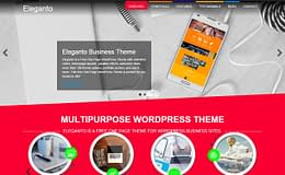 Eleganto - Free One Page WordPress Theme