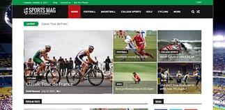 SportsMag Free WordPress Sports Magazine Theme