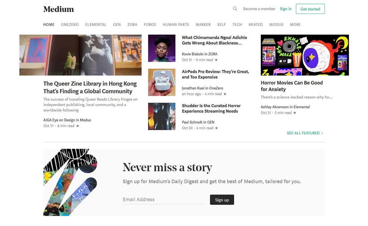 Medium - Best Blogging Platforms