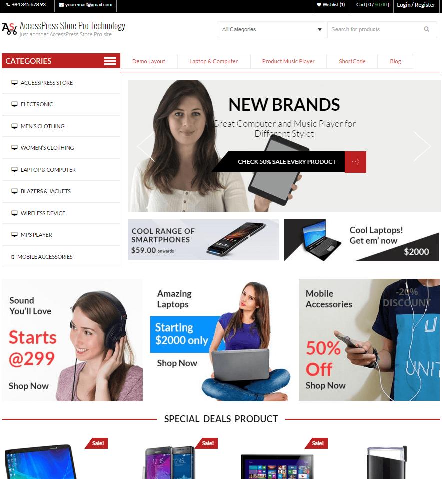 AccessPress Store Pro demo