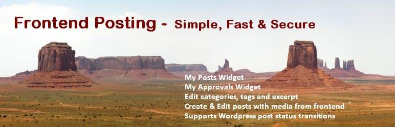 Frontier Post: Best WordPress Frontend Post Plugins