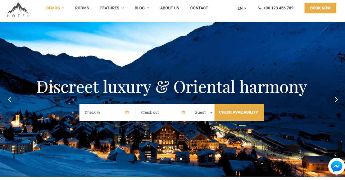Hotel WP - Hotel WordPress Theme