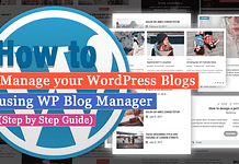 How to manage your WordPress blog using WP Blog Manager? (Step By Step Guide)