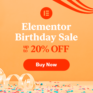 Elementor - The No.1 WordPress Website Builder Birthday Sale