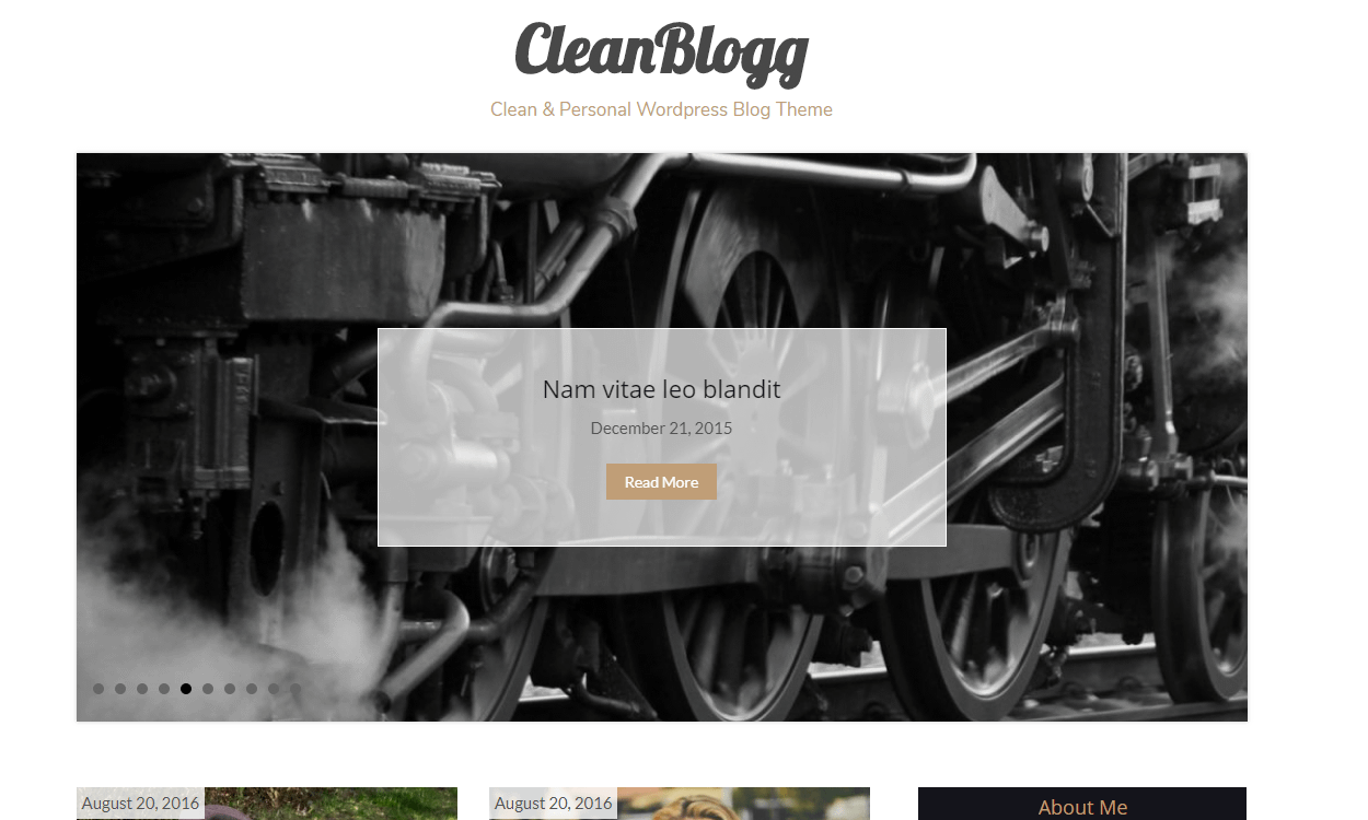 Cleanblogg - Best Free WordPress Personal/Professional Blog Themes