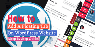 How to add a Responsive Floating Tab on WordPress Website? (Step by Step Guide)