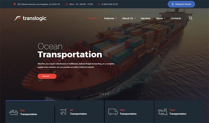 Translogic - Best Selling WordPress Themes in Themeforest 2018