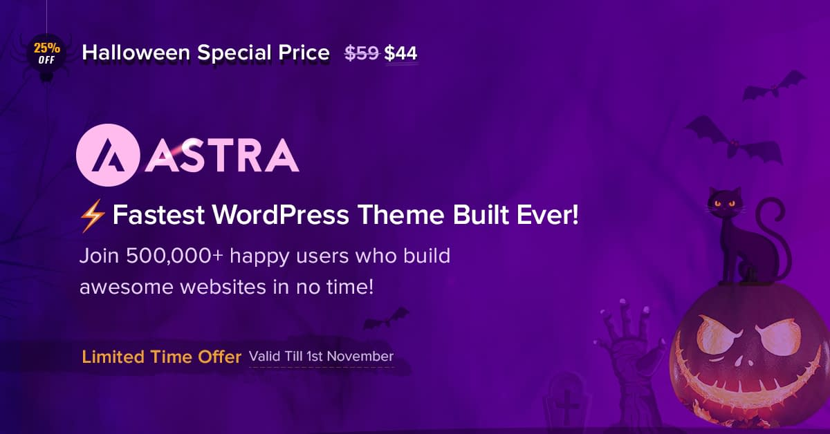 Astra Theme Halloween Offer