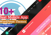 Best Free Mobile App WordPress Themes