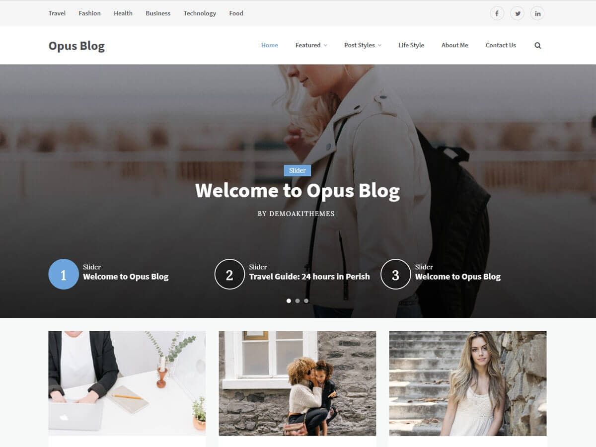 Opus Blog WordPress Theme