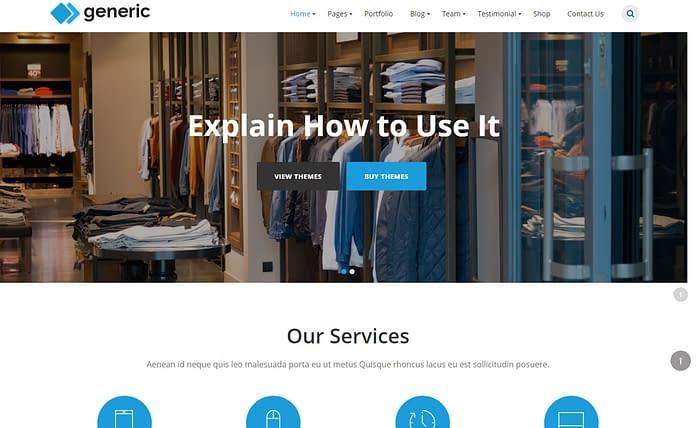 WP Generic – Responsive Multipurpose Business Theme