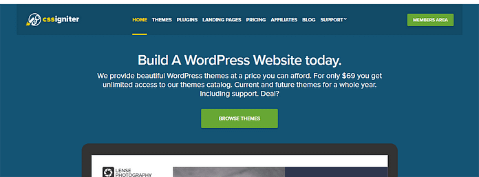 CSSIgniter-WordPress Black Friday and Cyber Monday Deals