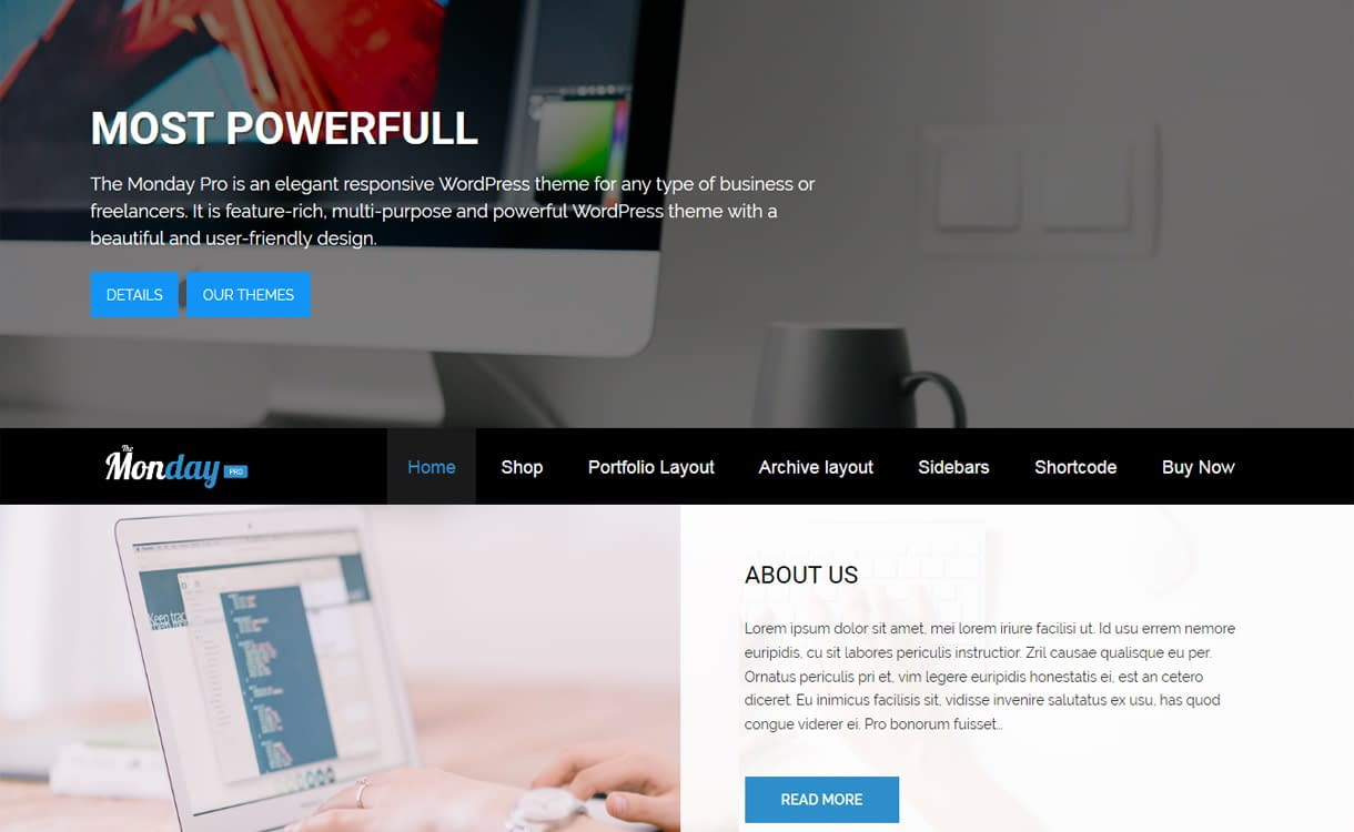 The Monday Pro - Premium WordPress Business Theme