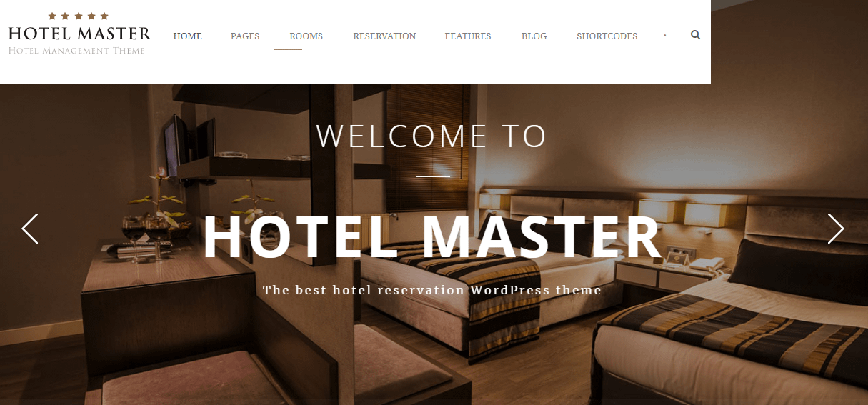 Hotel Master -Hotel WordPress Theme For Hotel Booking