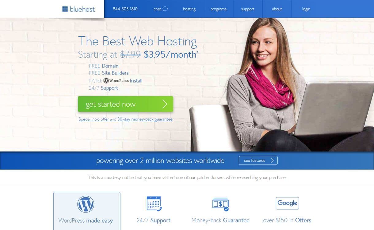 Bluehost-Best WordPress Hosting Services