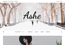 Ashes - Free WordPress Blog Theme