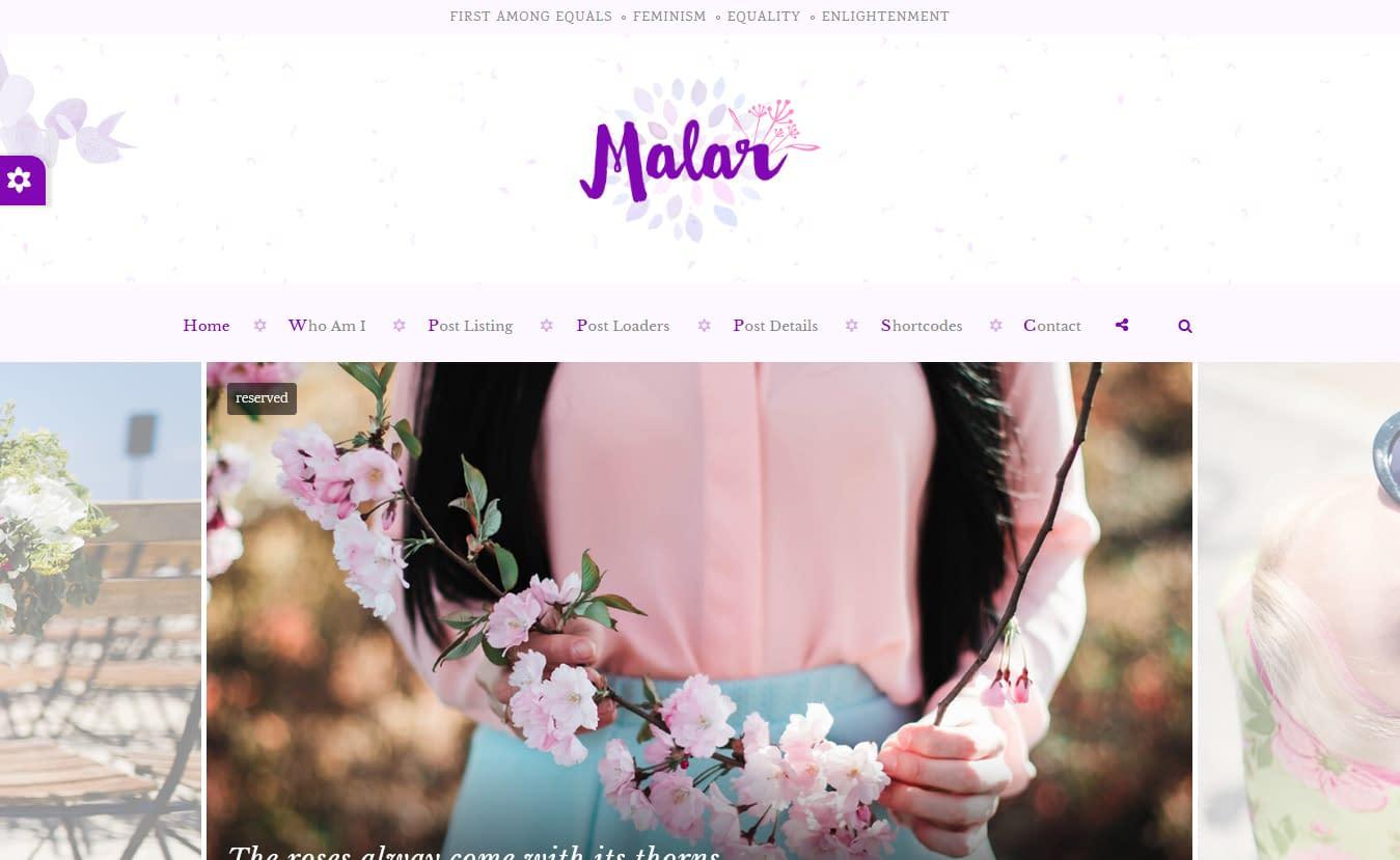 Malar - Premium Fitness WordPress Theme