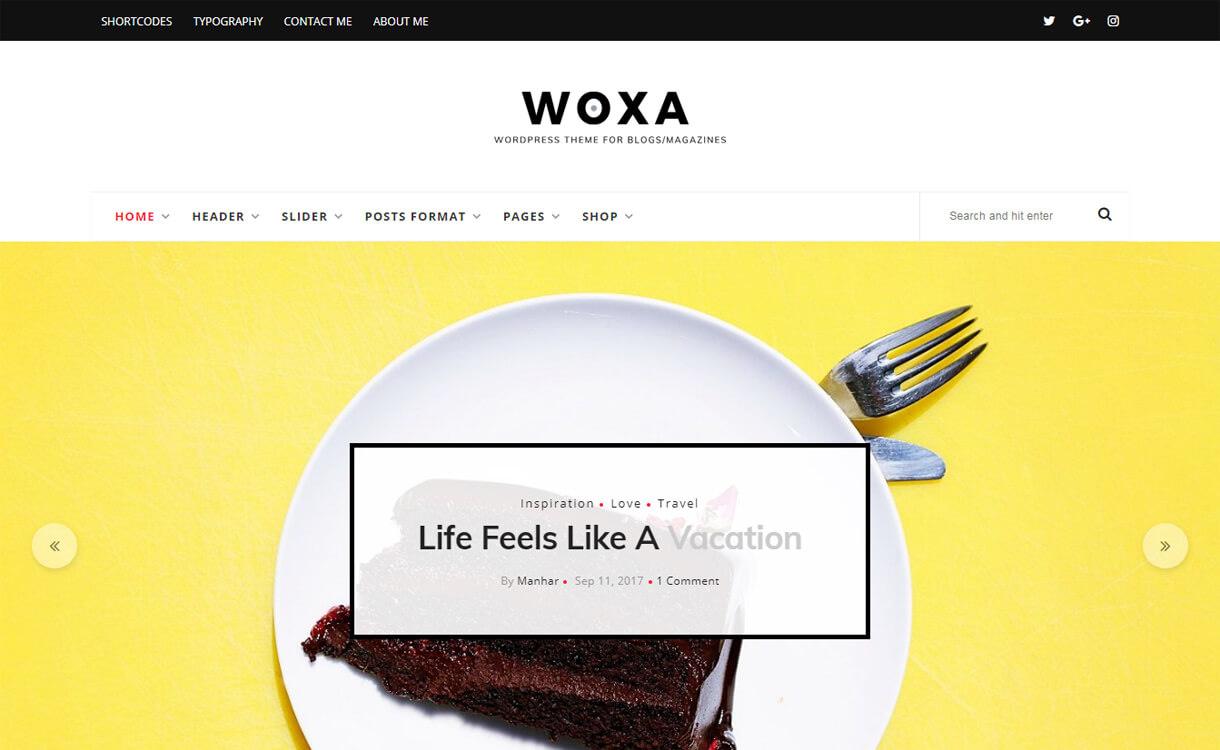 Woxa-WordPress Blog Themes