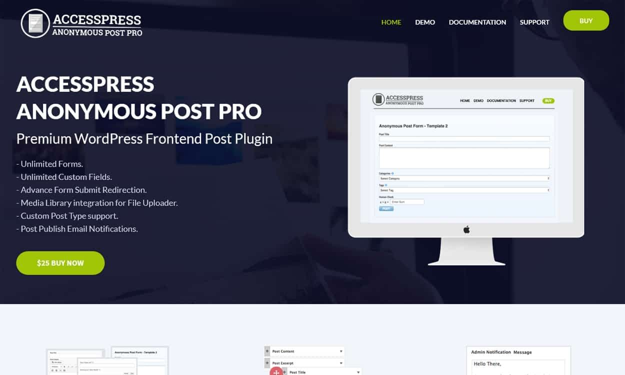 AccessPress Anonymous Post Pro - Best Premium WordPress Frontend Post Submission Plugins