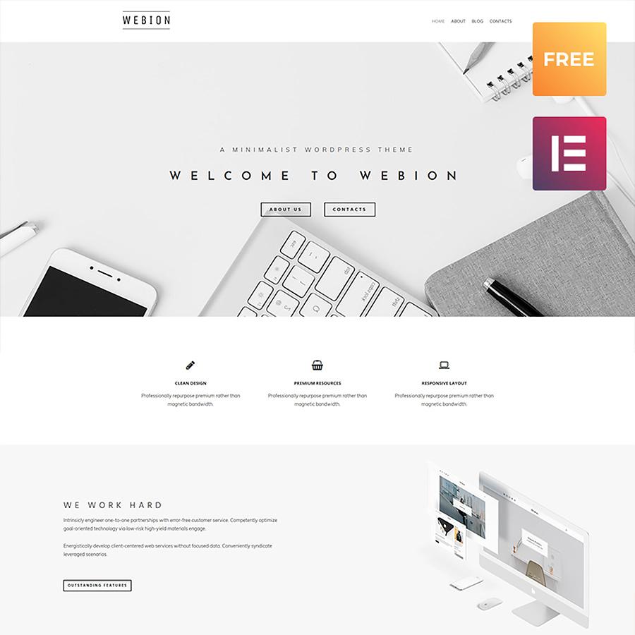 Webion lite - Minimal Elementor Multipurpose WordPress Theme