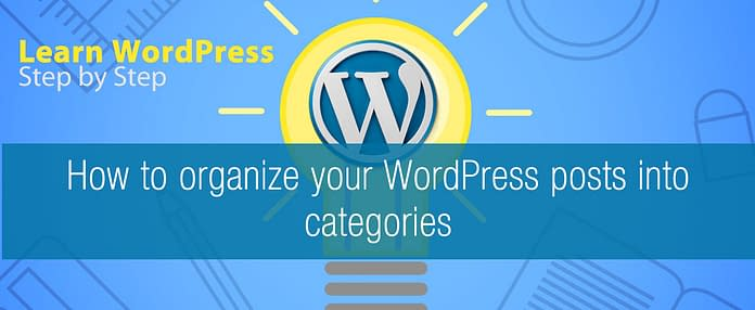 How to organize your WordPress posts into categories