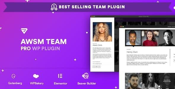AWSM Team Pro - Team Showcase WordPress Plugin
