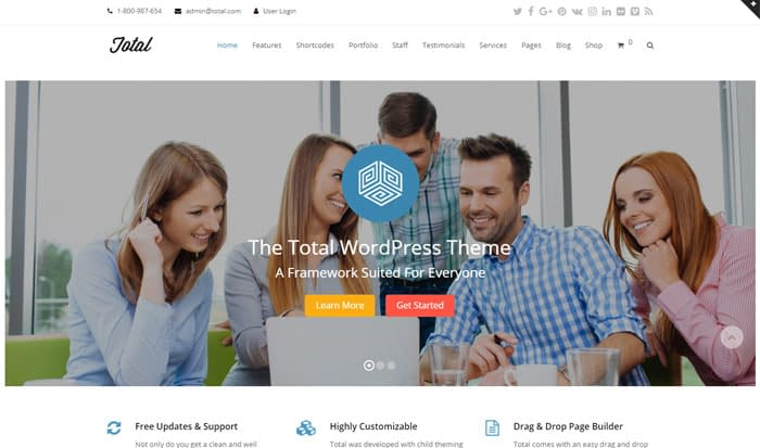 Total - Best Selling Themeforest Theme