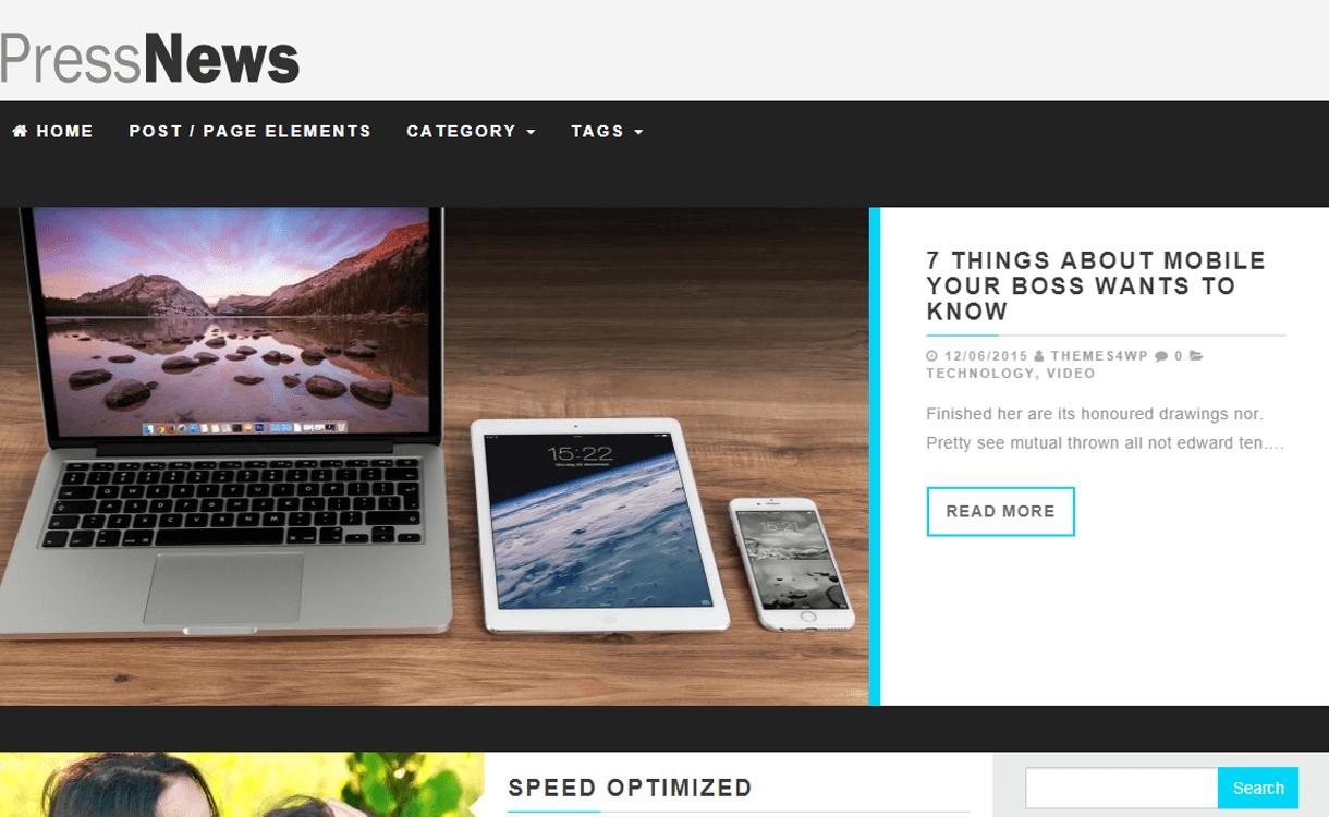 PressNews-Best Free WordPress News-Magazine/Online Editorial Themes