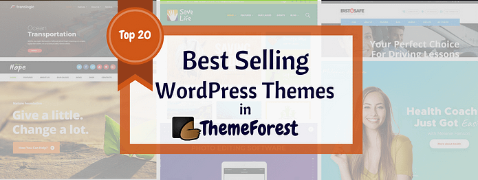 Best Selling WordPress Themes in ThemeForest 2017
