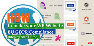 How to make your WordPress Website EU GDPR Compliance? (Step by Step Guide)